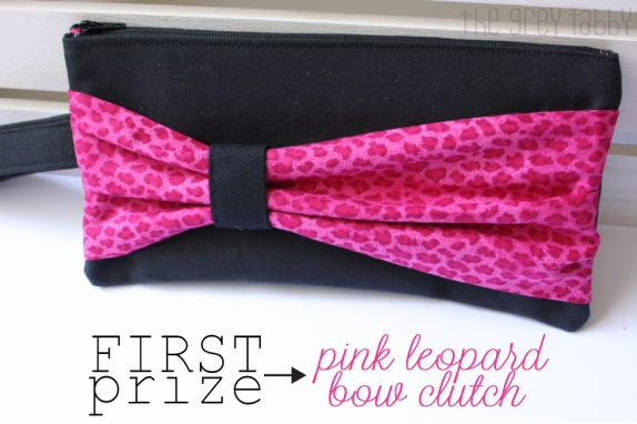 Pink Leopard Bow Clutch