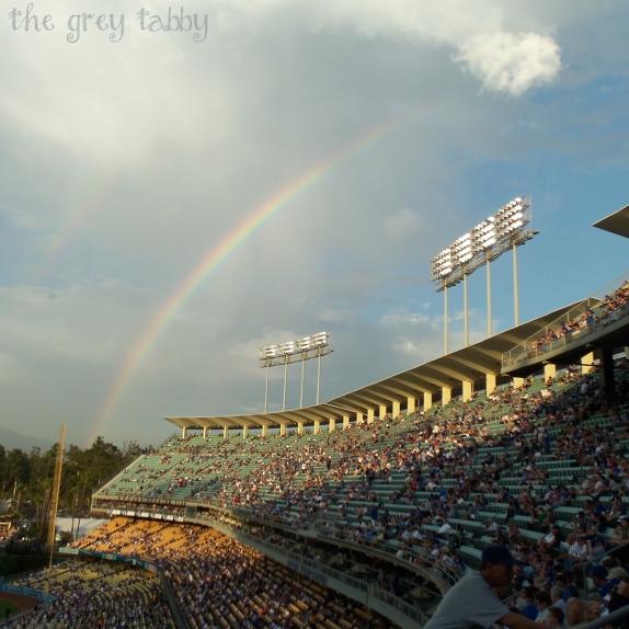 Rainbow at Dodger Stadium