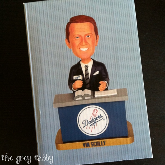 Vin Scully Bobblehead at Dodgers Stadium