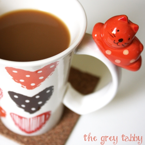 Cute Kitty Cat Mug - Perfect with Fall Colors!