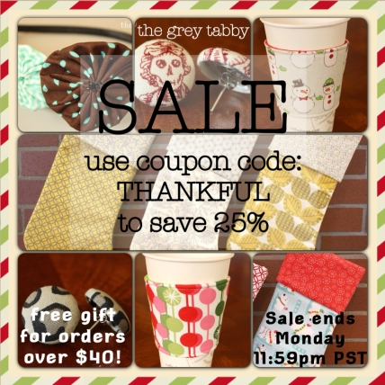 The Grey Tabby's Small Business Saturday Sale